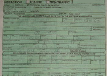 Jaywalking Citation